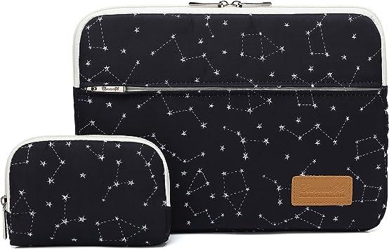Illustration of Old Tram in Sketch styleLaptop Case Canvas Pattern Briefcase Sleeve Laptop Shoulder Messenger Bag Case Sleeve for 13.4-14.5 inch Apple Laptop Briefcase