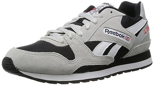 Reebok GL 3000, Zapatillas para Hombre, (AR1101_39EU_SkullGy/BK/BluInk/RiotRed
