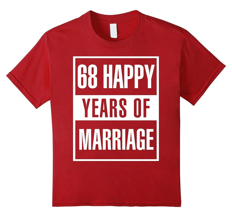 Amazon.com: 68th Wedding Anniversary Gift Idea Husband And Wife T ...