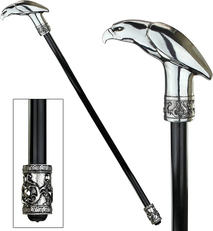Piercing Presence Eagle Walking Stick Design Toscano The Dragonsthorne Collection
