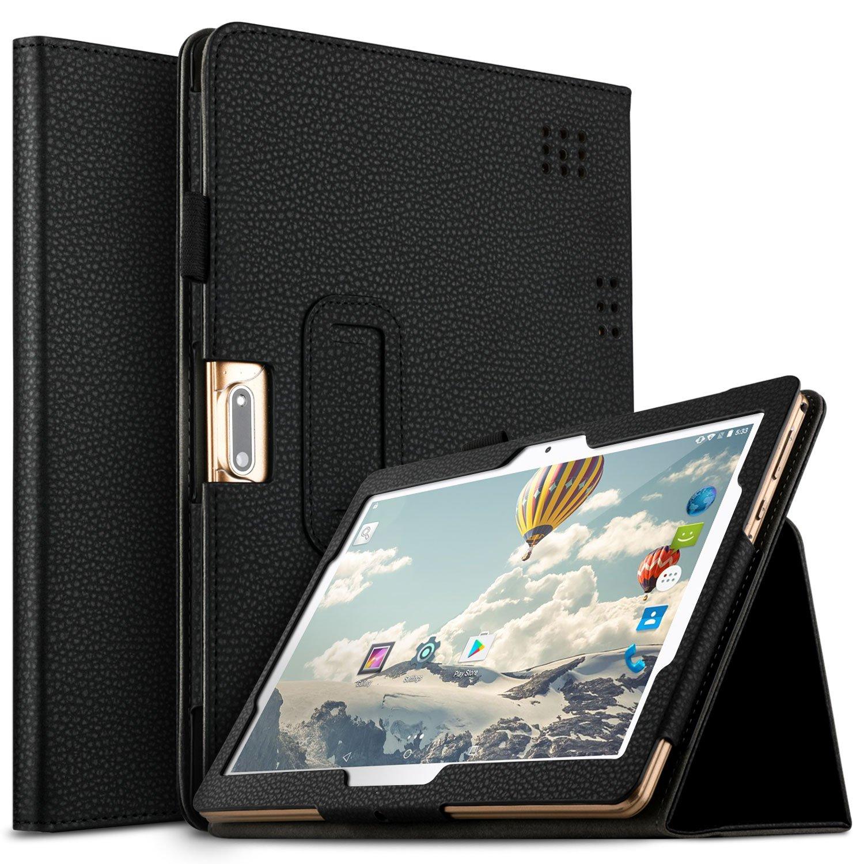IVSO Case for Dragon Touch K10/Dragon Touch Max10/PADGENE 10.1/TYD-107/TYD-108/TYD-109/QIMAOO Q10/Qimaoo P23L/Qimaoo K4/Qimaoo P24/GOODTEL G3/qunyiCO Y10/HAOQIN H10/PRITOM 10.1, Black
