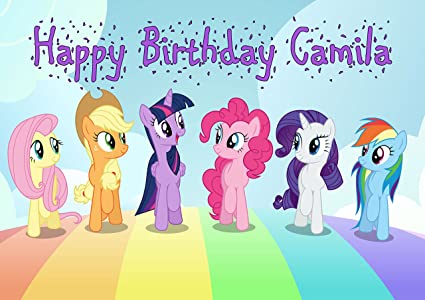 Image Unavailable Not Available For Color My Little Pony Personalized Cake Topper