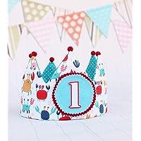 Corona de cumpleaños niños reversible regalo primer cumpleaños smash cake