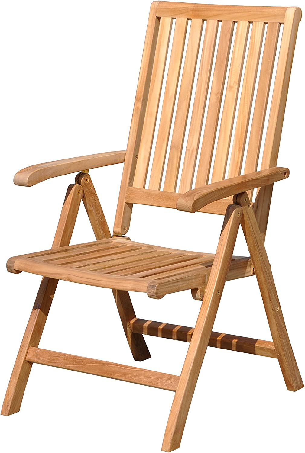 Courtyard Casual Natural Finish Teak Heritage Outdoor Chair