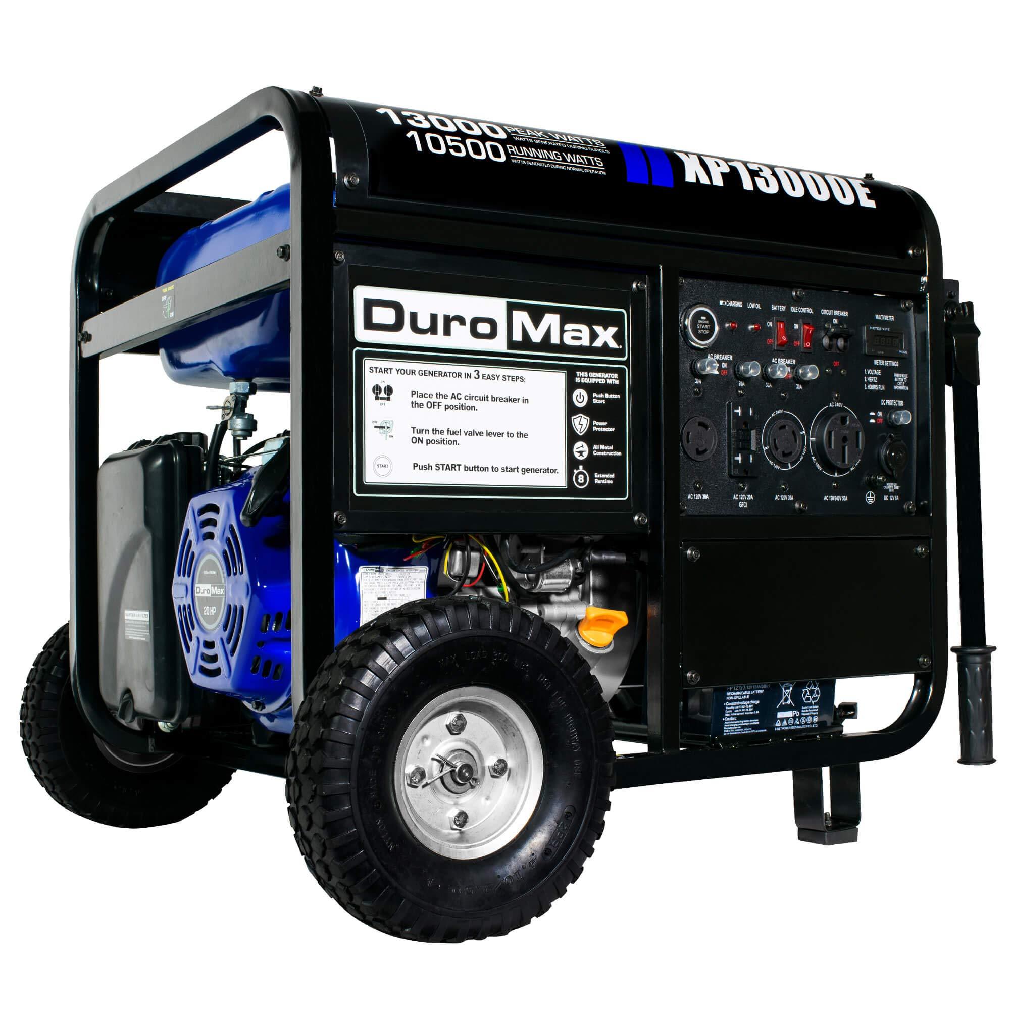 DuroMax XP13000E 13000 Watt Portable Gas Electric Start Generator