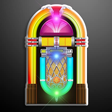 52e6afae Amazon.com: 1950's Jukebox Light Up Flashing LED Lapel Pins (Set of ...