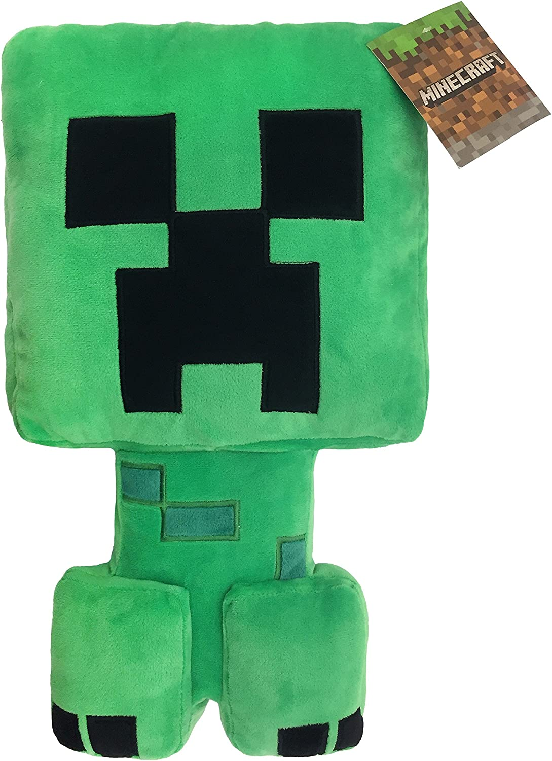 Jay Franco Minecraft Plush Stuffed Creeper Pillow Buddy - Super Soft  Polyester Microfiber, Measures 12 inches x 12 inches (Official Minecraft  Product)