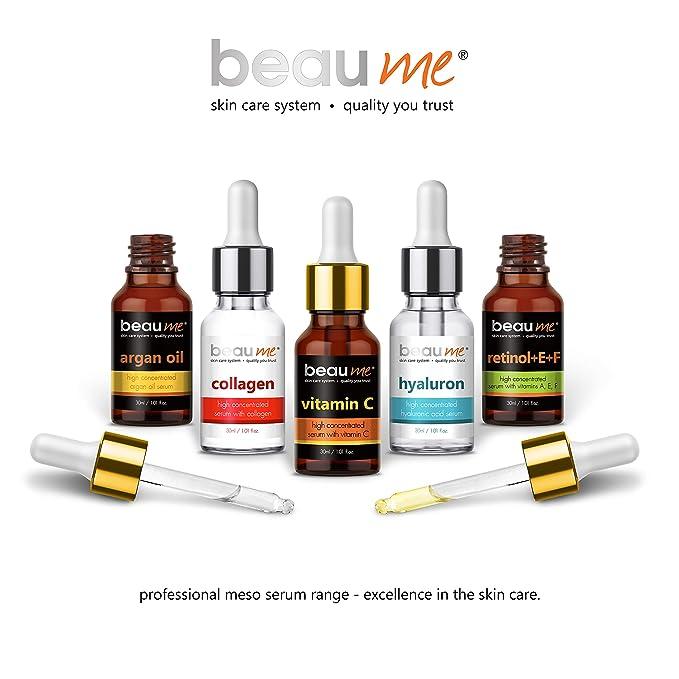 BEAUME® Suero de Colágeno Altamente Concentrado con Ácido Hialurónico - Tratamiento Antiarrugas e Hidratante de 30ml para todas las edades: Amazon.es: ...