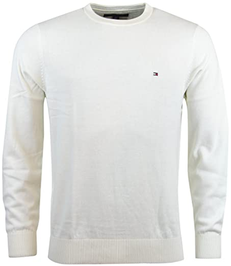Tommy Hilfiger Mens Crewneck Pullover Sweater - XXL - Cream at ... 1752f57aac