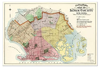 Amazon Com Brooklyn New York Land Owners And Real Property Map Of