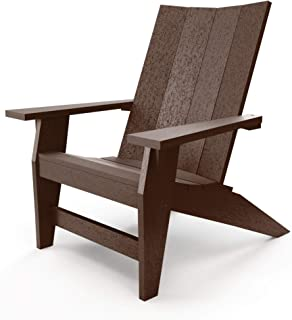 product image for Hatteras Hammocks Chocolate Adirondack Chair, Eco-Friendly Durawood, All Weather Resistance, Fit 'N' Finish Handcrafted in The USA