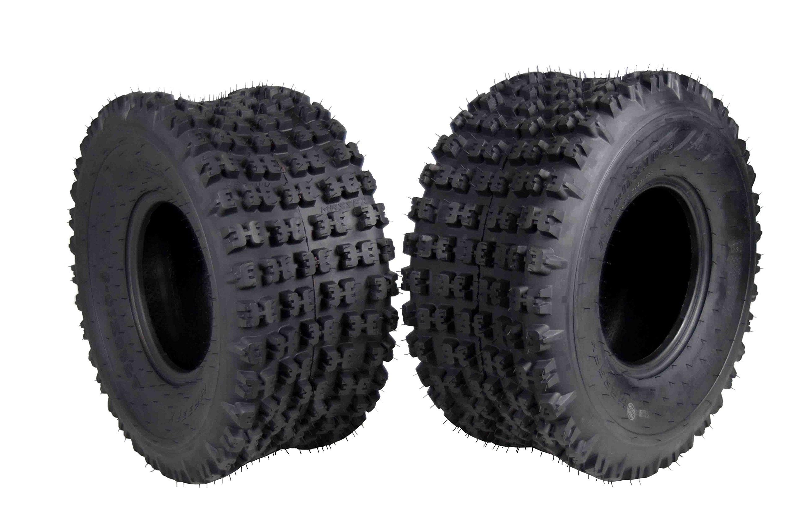 2 Set MASSFX 20X10-9 Dual Compound EOC20109 ATV Tires Rear 6 ply 20x10x9 2 Pack