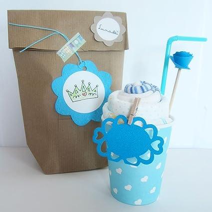 Idea Regalo Original para Bebés | Milkshake hecho con Calcetines de Algodón de marca y Pañales