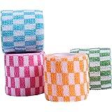 TY PET ペットフレックス ペットパック クイックテープ 多機能 粘着包帯 不織布 自着性伸縮包帯 猫犬動物用,5CM*450CM (4巻入り)