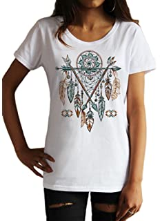 Haut de Maillot Tribal Rouge Indien Indien Plumes Amérindiennes Dream Catcher JTK1165
