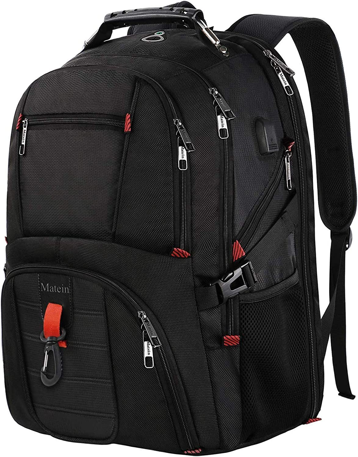 MONTOJ Travel Gear Laptop Backpack Mountain Red Cloud Sunset Carry-On Travel Backpack