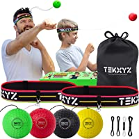 TEKXYZ Boxing Reflex Ball Family Pack, 4 Different Boxing Ball with Headband, Softer Than Tennis Ball, Perfect for…