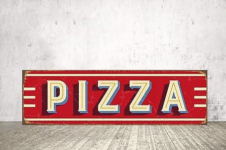 Cartel de Pizza Estilo Vintage con Texto en inglés Pizza ...