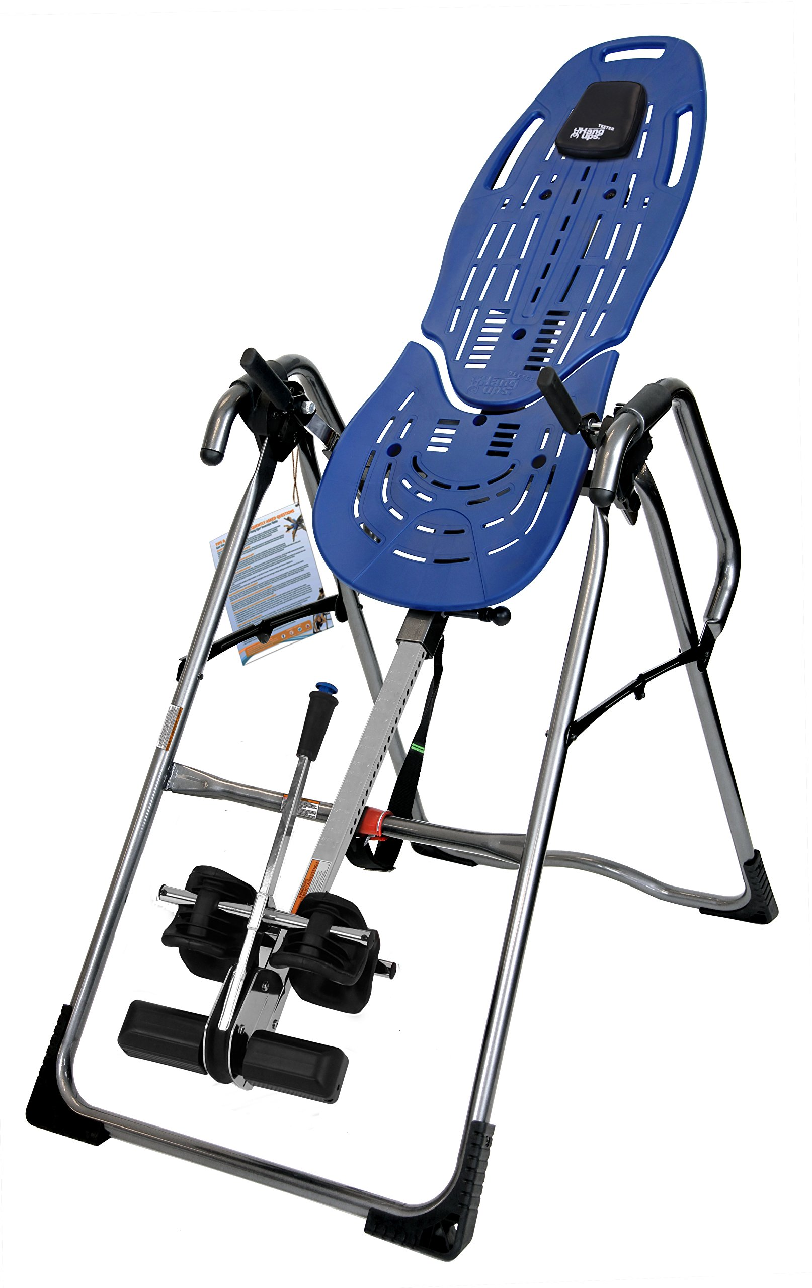 Teeter EP-970 Ltd Inversion Table with Back Pain Relief Kit, Blue/Titanium by Teeter