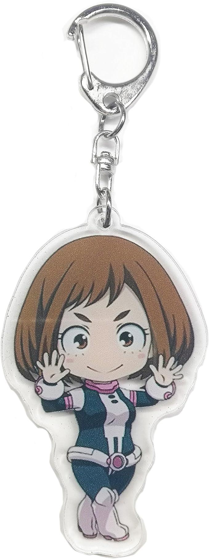 Set of 3 My Hero Academia Anime Acrylic Keychain Midoriya Deku Ochaco Toga