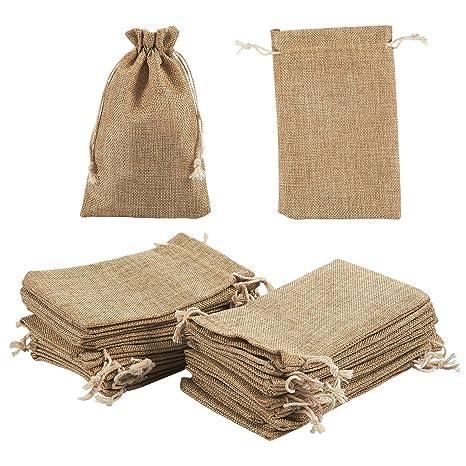 Bolsa de joyería cordón bolsas - 24 piezas de arpillera ...