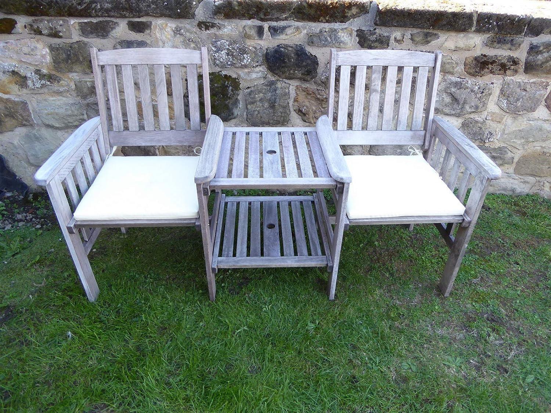 UK-Gardens Green Garden Furniture 2 Seater Garden Bench Cushion