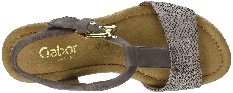 Gabor Damen Comfort (Torba/Fango Sport RiemchenSandale, weiß, Braun (Torba/Fango Comfort (Bast)) 709c6e