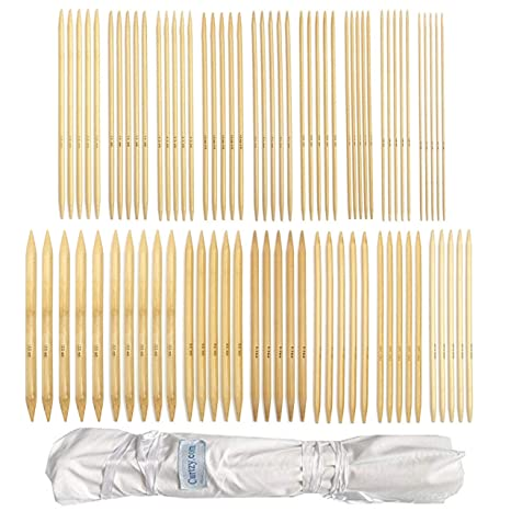 "2mm-12mm Double Point With 80 Pieces Of 25cm//10/"" Bamboo Knitting Needles"