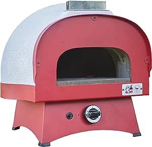 Zio Ciro Subito Cotto Horno para Pizza a Gas, Color Blanco/Negro, 55 x 55 x 55 cm: Amazon.es: Jardín