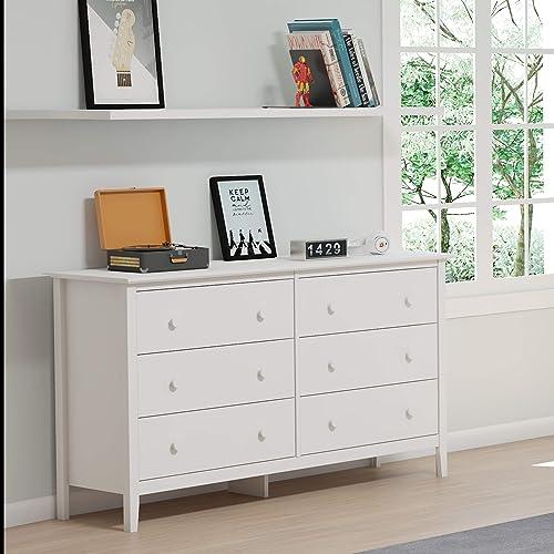 Simplicty 6-Drawer Dresser, White