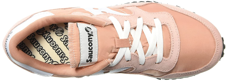 Saucony Originals Women's DXN Trainer Vintage Running Shoe B072JTWCVK 8 B(M) US Peach/White