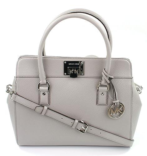 199bf0136466 Michael Kors Astrid Leather Shoulder Satchel Bag Medium Handbag (Grey) £430