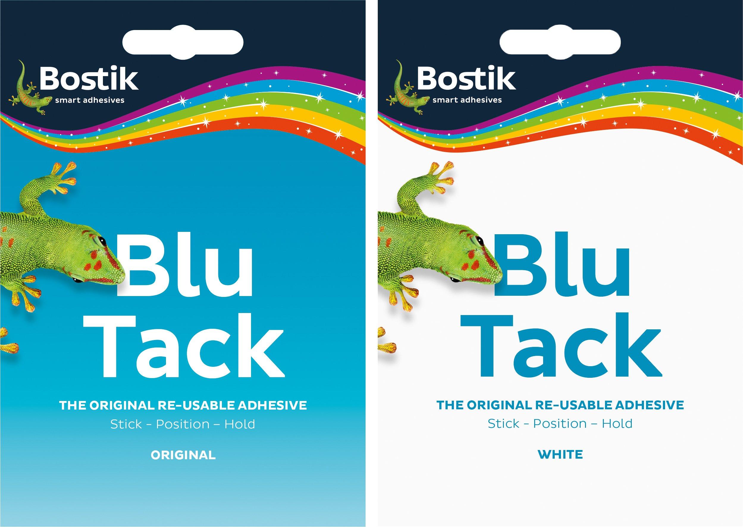 12 x Bostik Blu Tack Mastic 6 White 6 Blue Slabs by Bostik