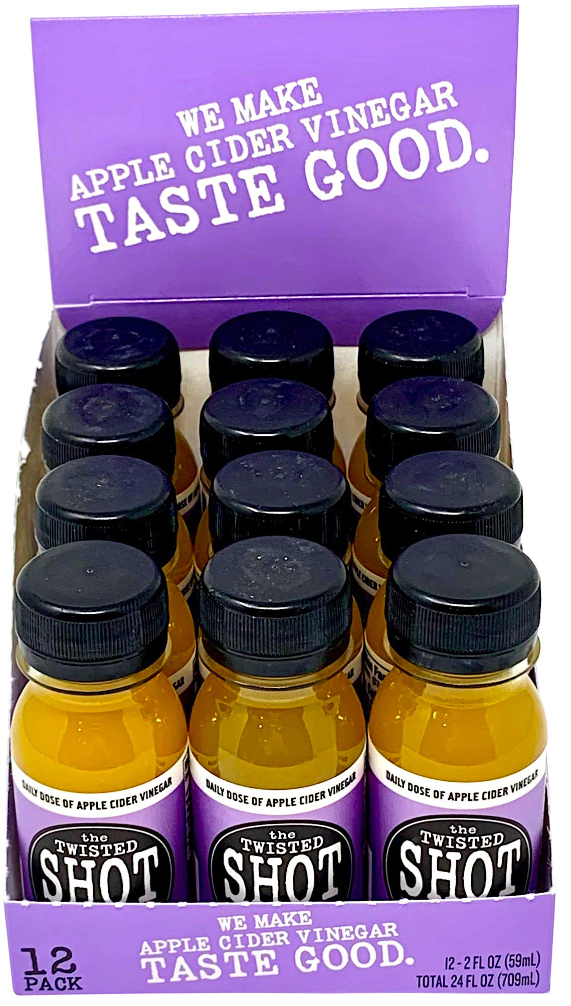 The Twisted Shot - Organic Apple Cider Vinegar shot with Turmeric, Ginger, Cinnamon, Honey & Cayenne - 48-pack of 2oz shots by The Twisted Shrub (Image #6)