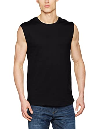 Open Edge Sleeveless Tee, T-Shirt Homme, Blanc (White 00220), S (Taille du Fabricant: S)Urban Classics