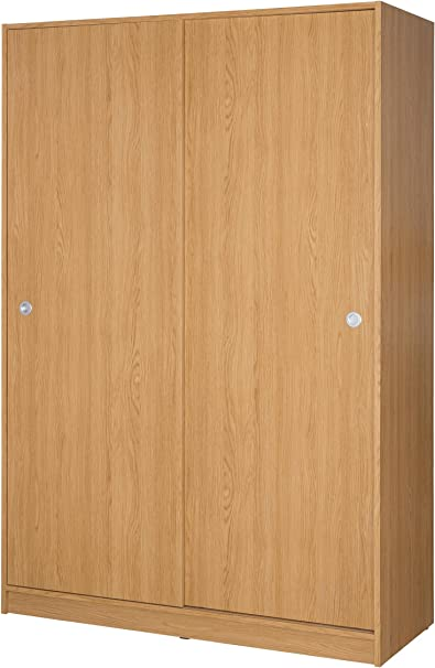 MUEBLECASA - Armario Gala con puertas correderas , perchero y balda, madera, 200cm Alto x 120cm Ancho x 50cm Fondo, Roble: Amazon.es: Juguetes y juegos