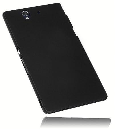 mumbi Schutzhülle für Sony Xperia Z Hülle (harte Rückseite) matt schwarz