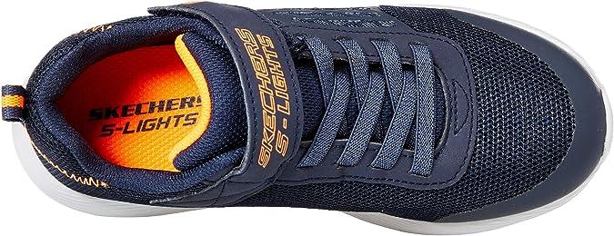 Skechers Boys' Dyna lights Sneakers, Blue (Navy MeshOrange