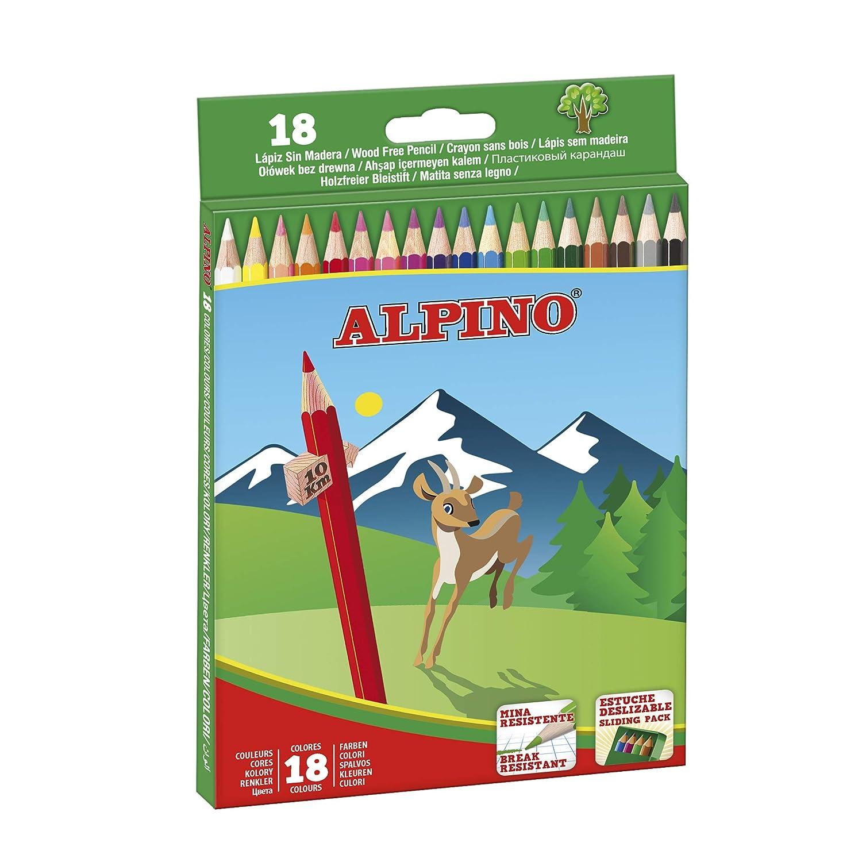 Alpino 722846 Matita Colorata da 3,3 mm con Tempera-Matita Incluso