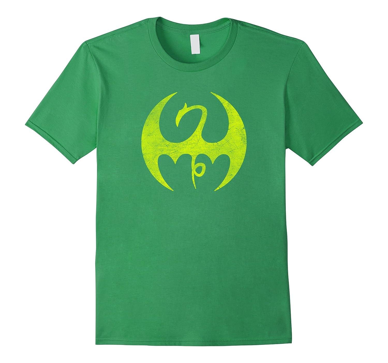 Marvel Iron Fist Distressed Dragon Logo Graphic T-Shirt-SFS