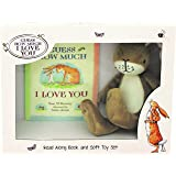 "Rainbow Designs GH1351 ""Guess How Much I Love You"" Book/Plush Gift Set"