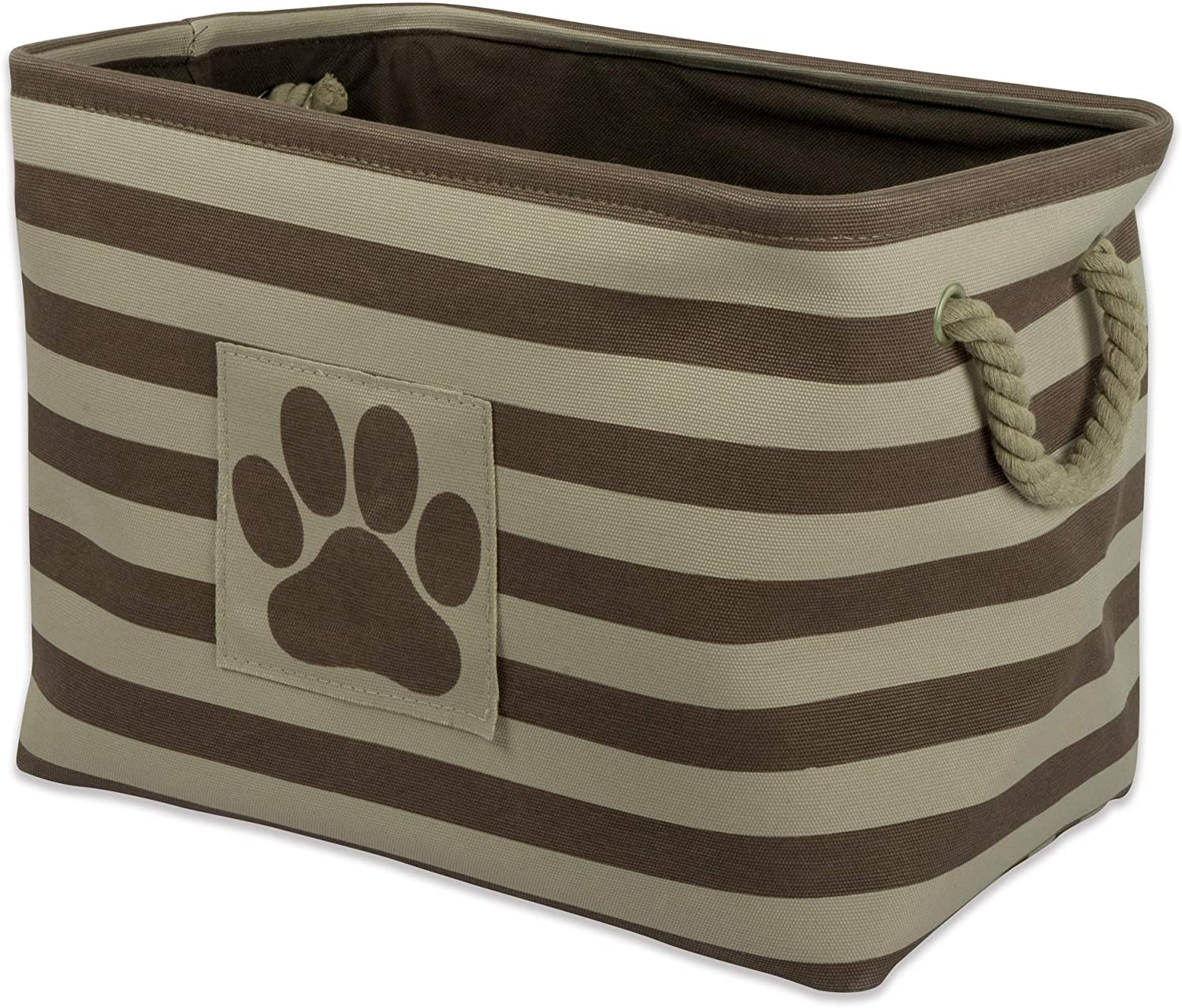 Bone Dry Stripes with Paw Patch Collapsible Polyester Pet Storage Bin