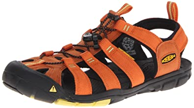 KEEN Mens CLEARWATER CNX M-RUST GREEN SHEEN Sandals Orange Orange (RUST