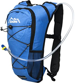 701c6e1a11 Andes 2 Litre Hydration Pack Backpack Bag Running Cycling with Water Bladder  Pockets