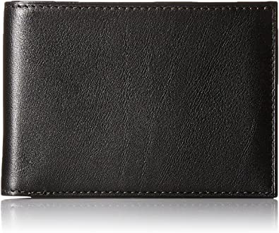 Continental ID Wallet Black Leather Wallet Bosca Mens Nappa Vitello Collection