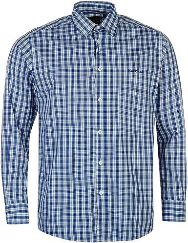 Pierre Cardin Hombre Camisa Formal De Manga Larga Clásica Azul Cheques S: Amazon.es: Ropa y accesorios