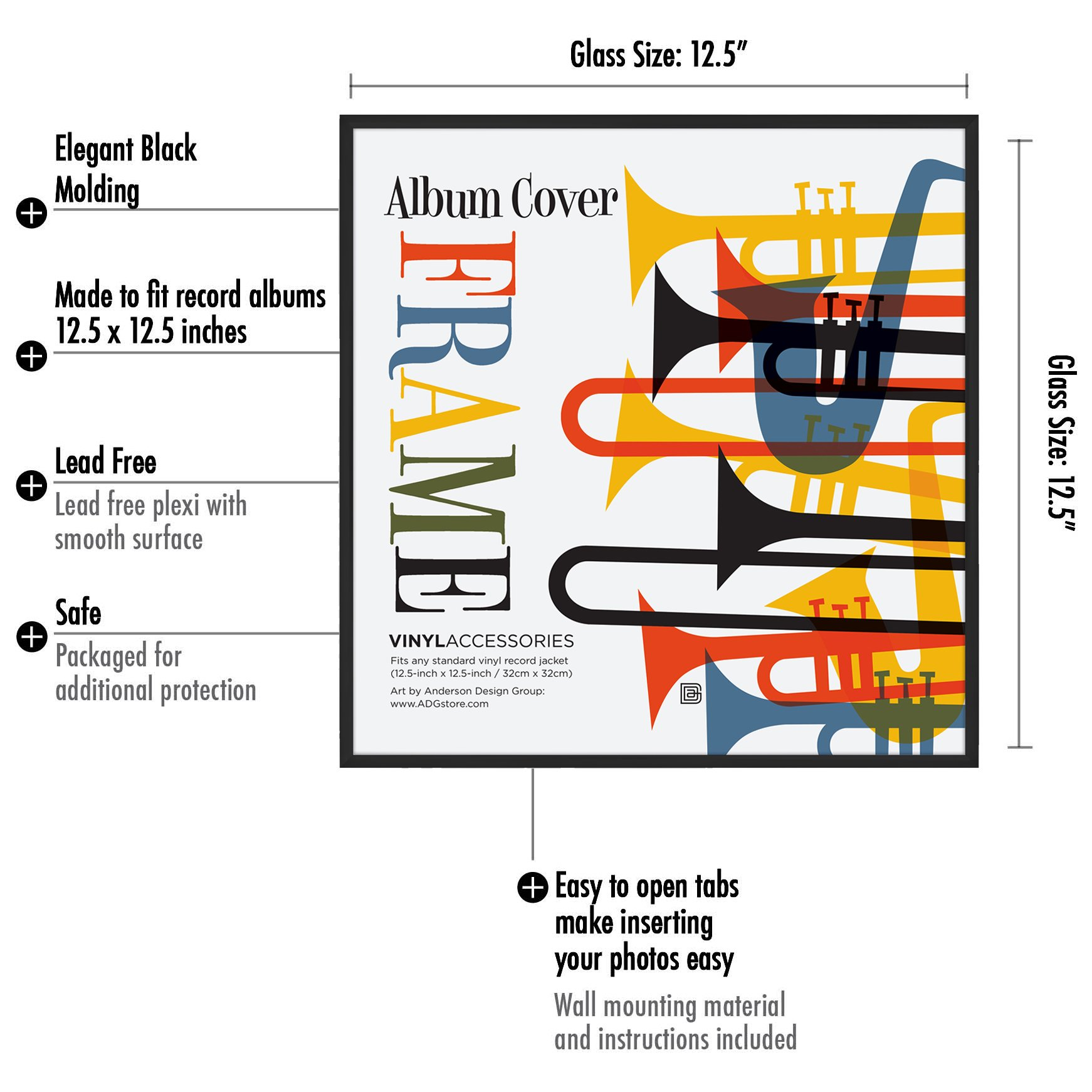 Americanflat Album Frame - Made to Display Album Covers and LP ...