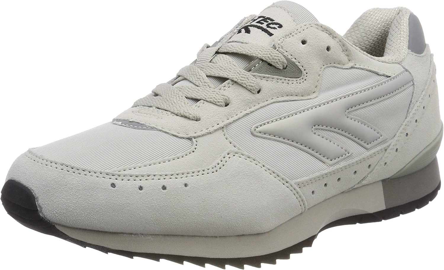 Hi-Tec Mens Silver Spirit Running Shoes Trainers Sneakers Grey White Sports