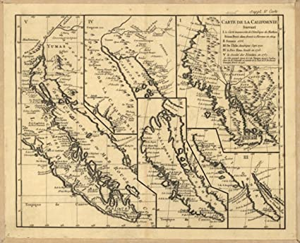 Amazon.com: 1770 map: West United States & Mexico Carte de ...
