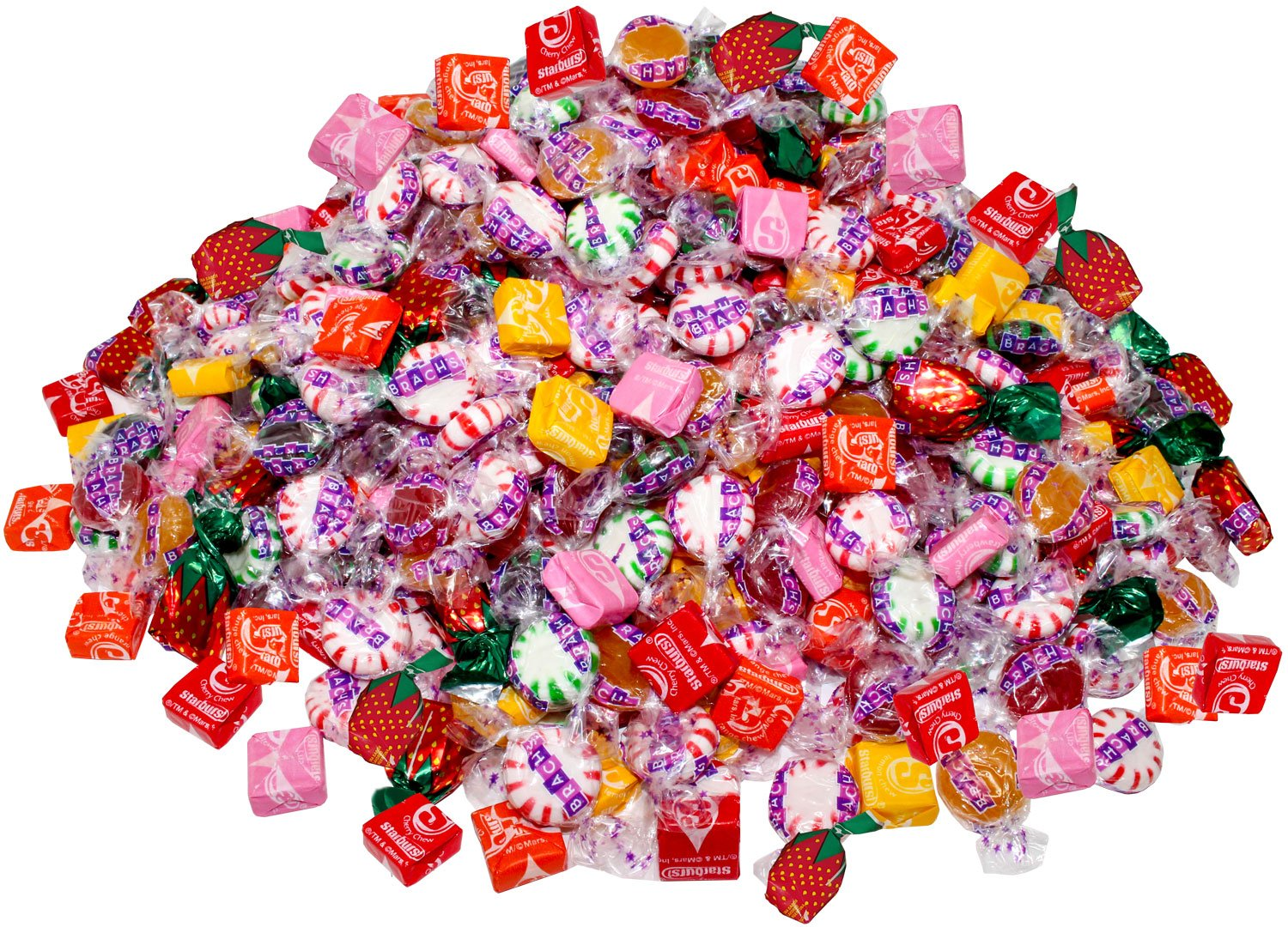 Assorted Starburst & Brach's 8.75 Lb Bulk Soft Chewy & Hard Candy Mix Value Pack 700 Pcs (140 oz) by Assortit
